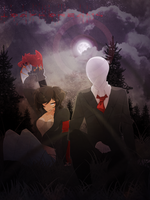 Commission: Zora Rose Hertz and Slenderman by 1Day4Dreams