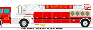 North Psycher Fire Dept. Truck 621 by MisterPSYCHOPATH3001