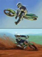ASUPERCROSS - Riders I and II by CelticBotan