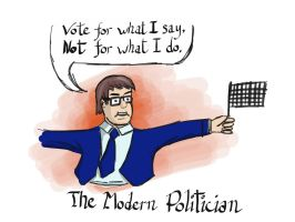 The modern politician by mifortin