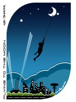 Flying to the moon by uAe-Designer
