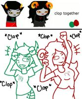 Kanaya and Aradia: clopping by yellowvest123