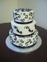 scroll wedding cake by see-through-silence