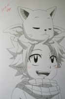 Just Cute - Natsu and Happy by SakakiTheMastermind