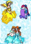 Olympus - Electre, Podarge, Zephyr and Iris v2 by Iris-Yukimihime
