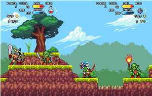 Mock up game style. by Omegachaino