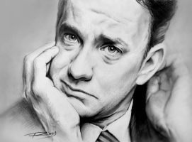 Tom Hanks by ROSSJCBR