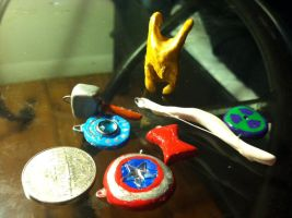 Avengers Charms! WIP by AiwenStarr