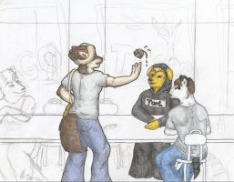 Lunch Room Tango WIP4 by selunca