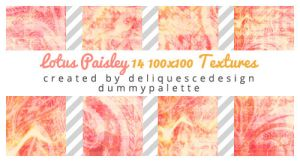 Lotus Paisley: 14 Icon Textures by deliquescedesign