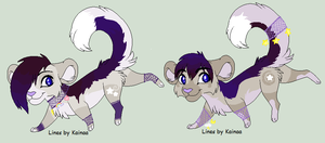 Night-Themed Big Cat Adopts by ABOMinableSpectra