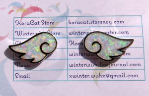 Opal Wing Earrings by KoraCat