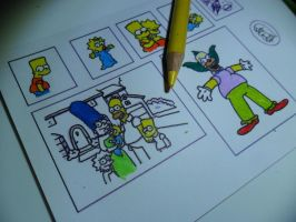 The Simpsons Pictures WIP by kayanah