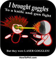 But they were LASER GOGGLES by flowofwoe
