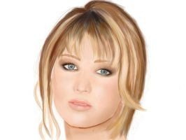 Jennifer Lawrence Portrait by laracremon