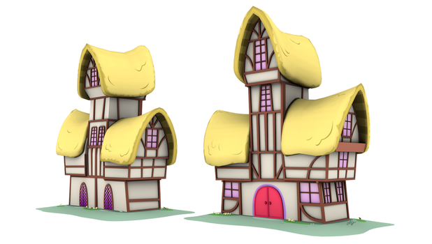 Ponyville Model - Tower_B (Game/Animation) by discopears
