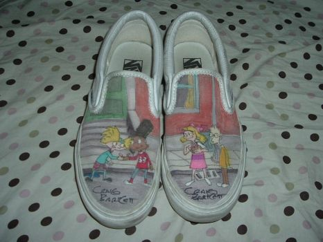 Hey Arnold Shoes by jbsdesigns