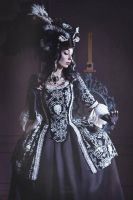 Gothic Rococo Jacket Dress by Alice-Corsets