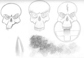 Flash Skull doodle by CiNiTriQs