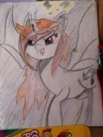 Hand drawn Sunset Bat by Starfall-Pony-Artist