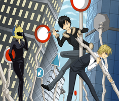 Drrr! - Izaya vs. Shizuo by GreeNissy