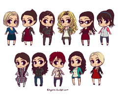 Orphan Black Chibis by Rhyara