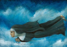 flying nun the power of prayer by HOMELYVILLAIN