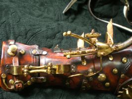 Steampunk Arm ray gun close up by Skinz-N-Hydez