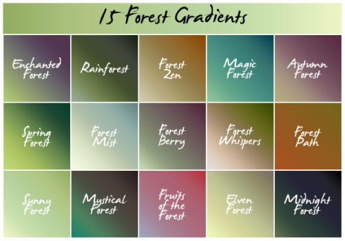 Forest Gradients by cazcastalla