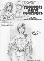 ThongGirl meets PowerGirl by Bikerbloke