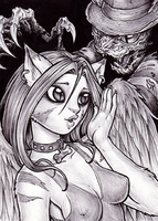 Furry Krueger and Anika by dpdagger