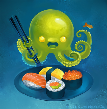 Monster sushi by Static-ghost