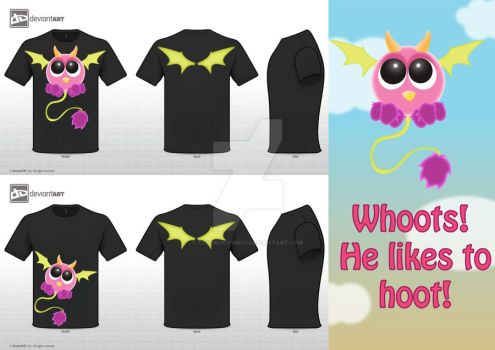 Whoots T-Shirt by CloudyCosmos