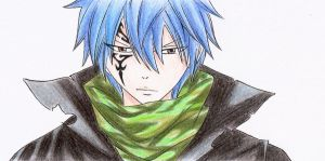 Jellal colored by Chocogirl3