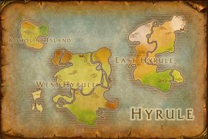 Hyrule World Map by TheRabidArtist