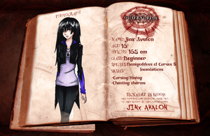 Otherworlde Application Sheet - Jinx Avalon by scarlet-knightwalker