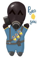 Pyro loves you o_O by Vanad3411