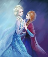 Frozen  elsa and anna by xueyun