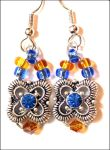 Blue and Amber earrings for Mom by aelthwyn
