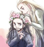 Thranduil and Thorin(The Hobbit) by sena1923