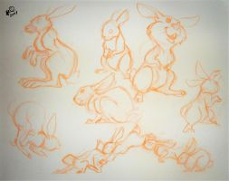 Awwww bouncing bunnies by Lelpel