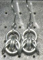 Chainmaille Earring 9 by Des804