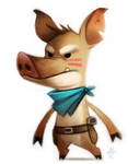 Daily Paint #674. Wolf Hunter - Quickie by Cryptid-Creations