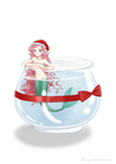 Mermaid Laura in the aquarium: Cristmas present by Maemy
