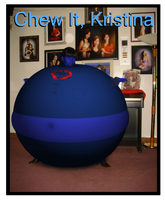 Blueberry Inflation Chew It, Kristina title cover by Magic-Kristina-KW