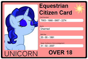 Equestrian Citizen Card - Charmed by SiliconeMess