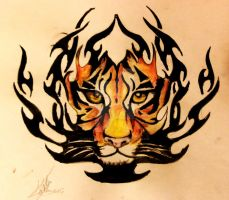 Tigre/Trubal by MartaCmTattoos