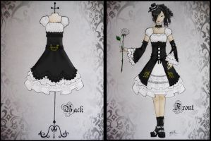 Lolita Dress Design - Black by xXnijuuniXx