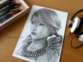 Photo of Vanille drawing by B-AGT