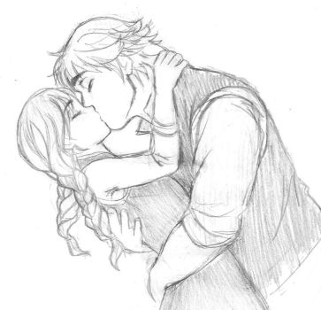True love's kiss - Kristoff and Anna by KatyTorres